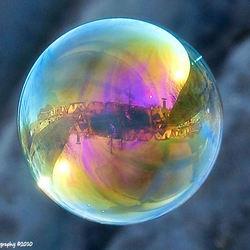 reflectie in zeepbel