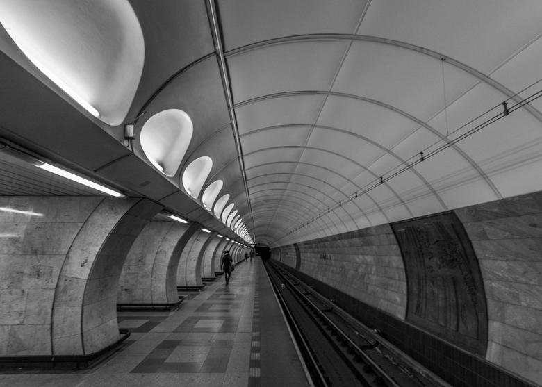 Anděl metrostation Prague - Dit is een van de metrostations die ik in Praag heb gefotografeerd. De foto is niet zo scherp als ik normaal gesproken wil