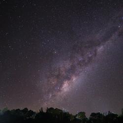 Melkweg op een plek donker genoeg in SA