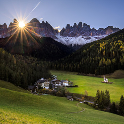 One plane flew over the Dolomites mountains
