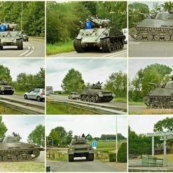 Aankomst Sherman Tank.