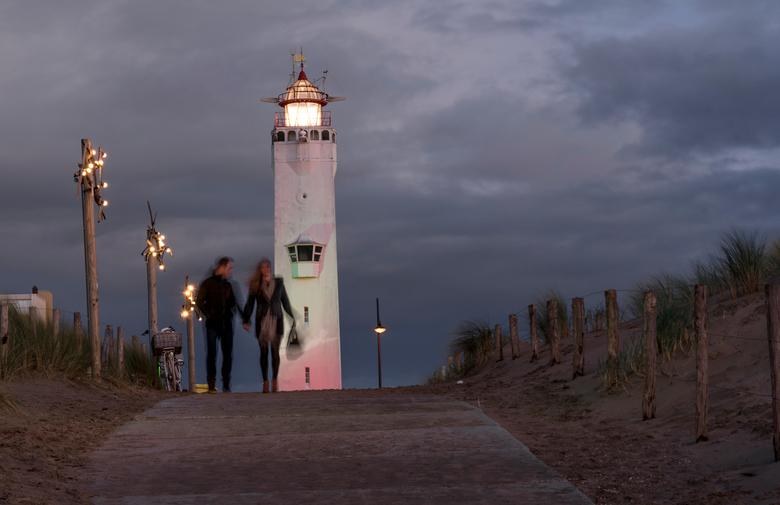Vuurtoren Noordwijk - De avond valt