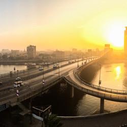 Panorama van de Nijl met mijn Iphone