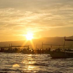 Bali, sunrise boats
