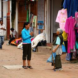 Ontmoeting In Kathmandu, Nepal