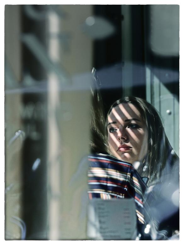 Striped face -