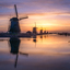 Sunrise at Kinderdijk