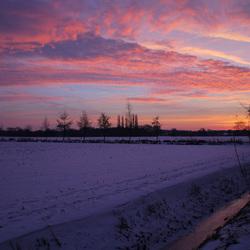 winter zonsopgang