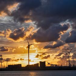 Zonsondergang over de Schelde