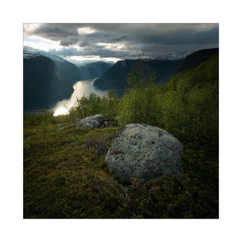 View over Aurlandsfjord -