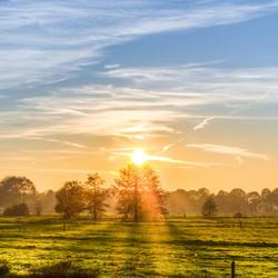 Zonsondergang in Friesland