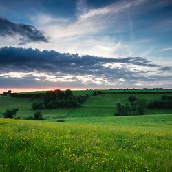 Ardennes sunset