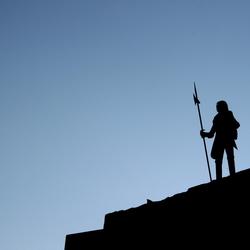 Silhouet ridder