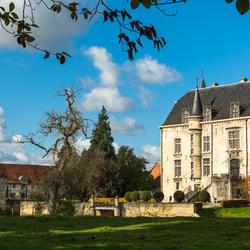 Herfst, kasteel Schaloen Valkenburg.