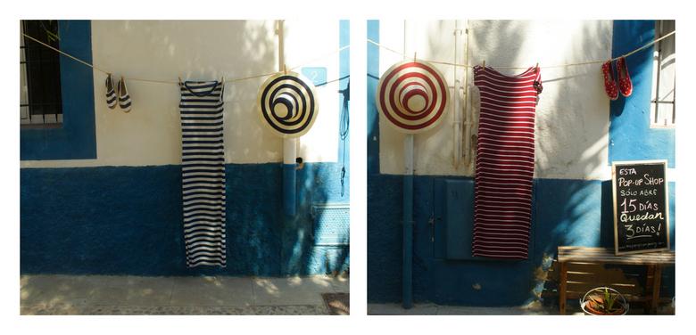 Rood en Blauw op Tabarca, Spanje - Rood en blauw op Tabarca, Spanje.