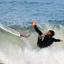 Surfen in de branding