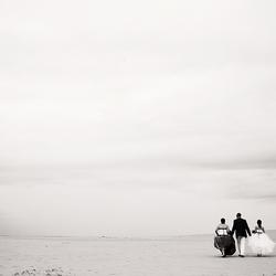 trouwen op de zandvlakte