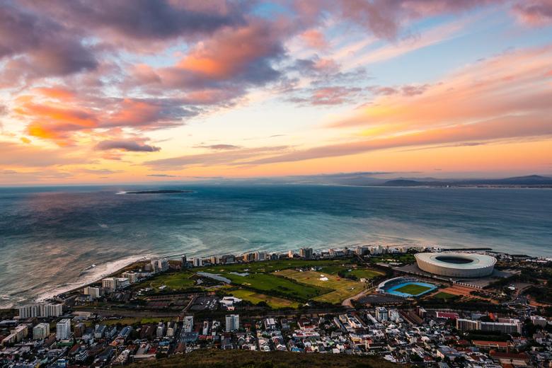 Kaapstad, Zonsondergang -