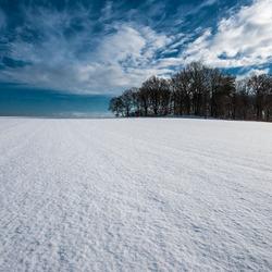 Virgin snow landscape
