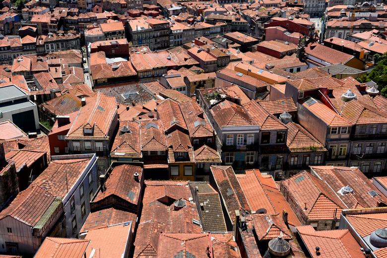 Daken van Porto - Normaal plaats ik nooit 2 foto's per dag, maar naar aanleiding van de opmerking van Greetje op mijn vorige upload, nu een keert