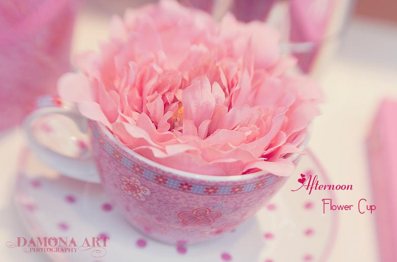 Afternoon Flower Cup - In &#039;t groot bekijken graag.<br /> <br /> Vandaag is er eigenlijk de perfecte dag voor.....grijs, regen en koud.<br /> D