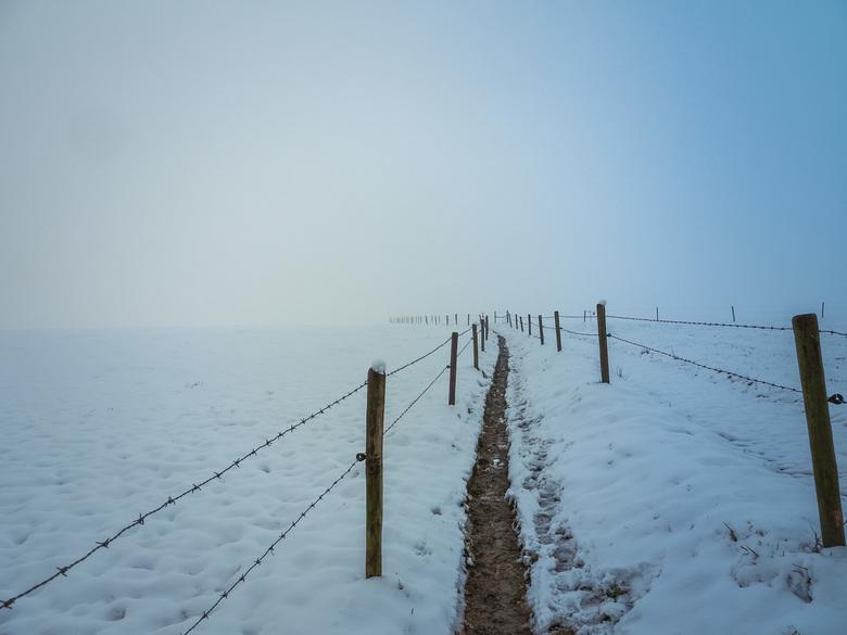uitzicht in de sneeuw -