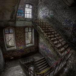 Verlaten trap