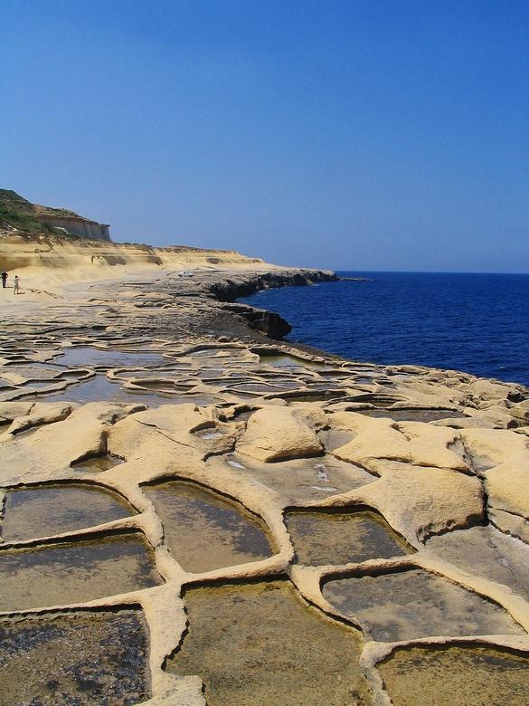 Gozo Island - Gozo, eilandje in de buurt van malta. Het blijft een bijzonder fenomeen dat zout winnen!