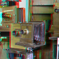 Oude camera bij Roel Fokken Doesburg 3D D7000 cha-cha