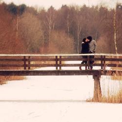 Kissin' on a bridge...