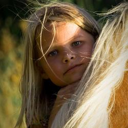 Anne-Fleur + paard