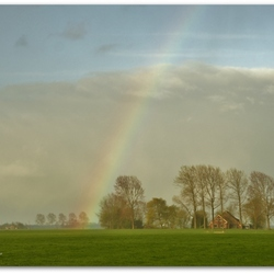 Under the rainbow.