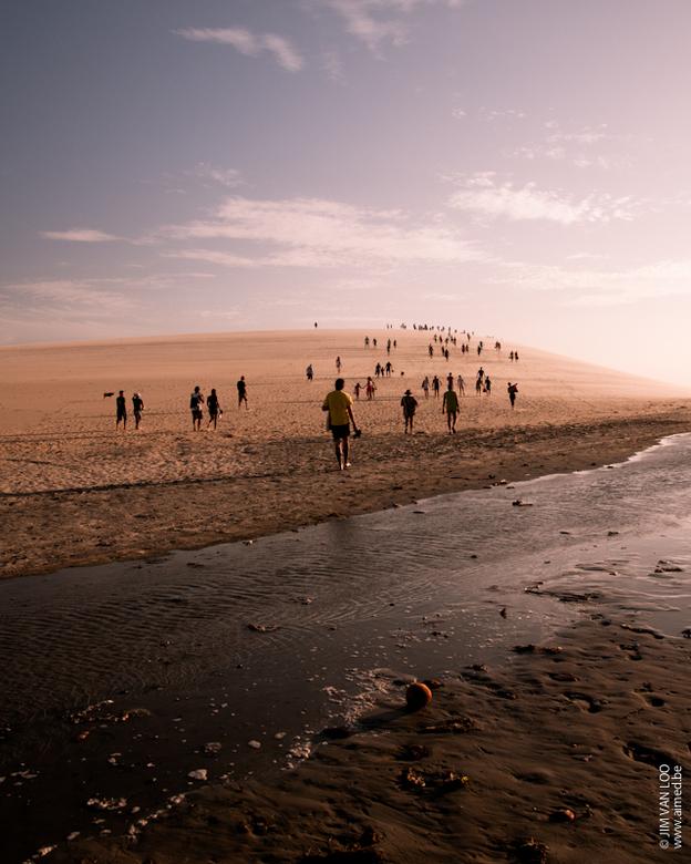 Sunset dune at Jericoacoara, Brasil - Genomen in Brazilië