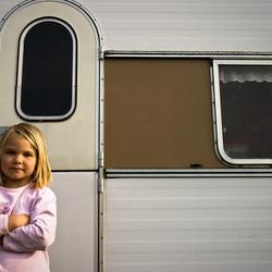 Anne-Fleur voor oude caravan