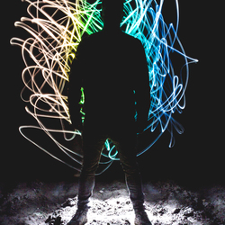 Silhouet lightpainting
