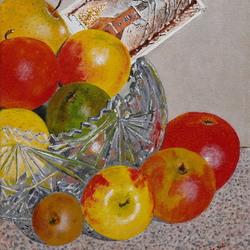 Betuws fruit met Kerstkaart