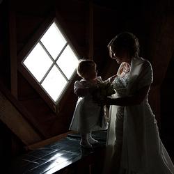 Bruidsmama met bruidskind....