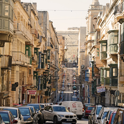 Straatbeeld Valletta