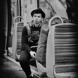 In the subway ...