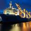Zware lading schip in de Sloehaven