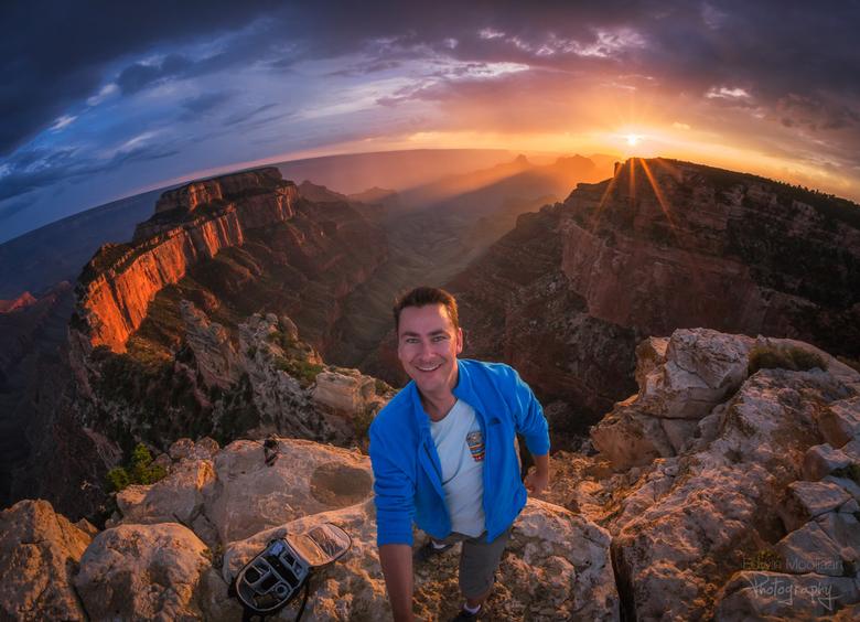 Selfie bij de Canyon