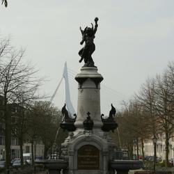 Wilhelmina monument Noordereiland