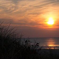 Zonsondergang bij Kijkduin
