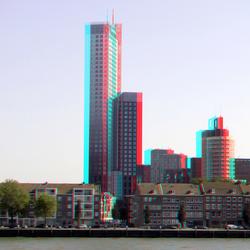 Maastoren Rotterdam 3D Hyper-anaglyph