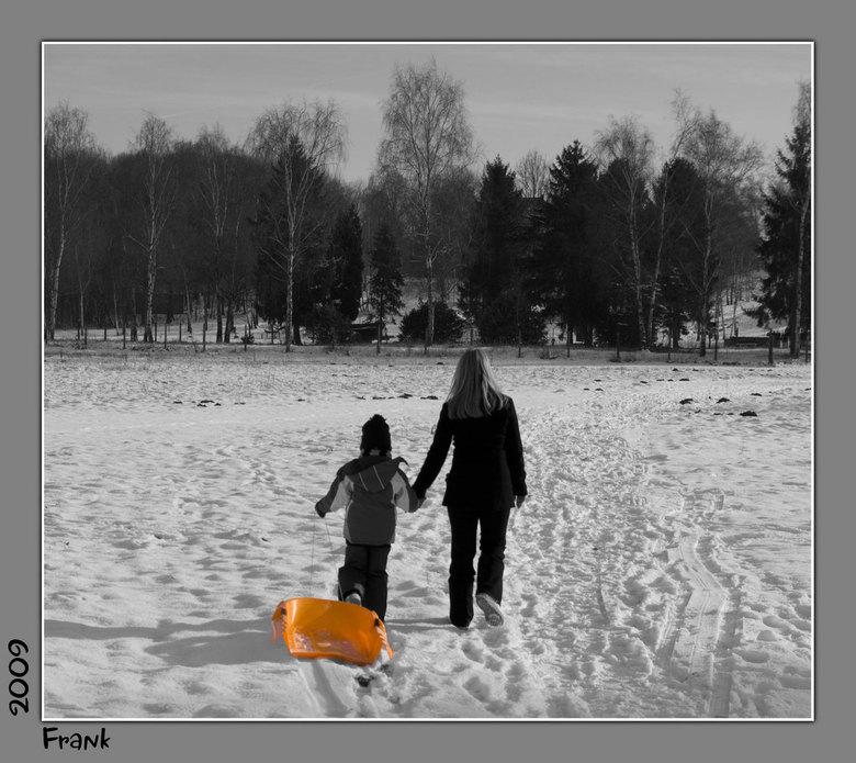 Glijden in de sneeuw..... -