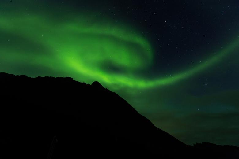 Noorderlicht in Henningsvær (Lofoten) - Deze foto heb ik eind augustus geschoten op de Lofoten, een prachtige eilandengroep in het noorden van Noorweg
