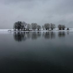 Wintersfeer rivier Het Spui