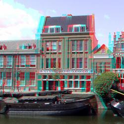 Delfshaven Rotterdam 3D anaglyph