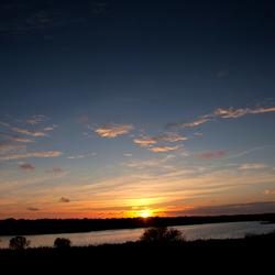 Zonsondergang boven De Geul - Texel