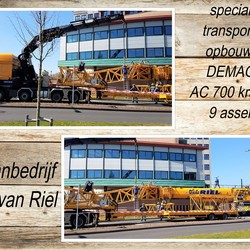 collage  2 Fotos SanneT  Kraanbedrijf  M.J van Riel  DEMAG   AC 700  9 asser  april 2020